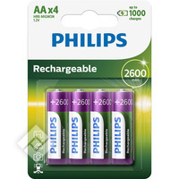 PHILIPS AAx4 2600 mAh