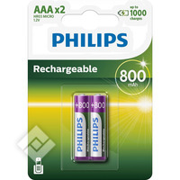 PHILIPS LR03 800MAH X2