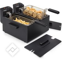 PRINCESS DOUBLE BLACK FRYER 183028