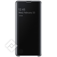 SAMSUNG Etui Samsung Galaxy S10 Housse Clear View Originale Tactile Noir