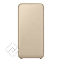SAMSUNG FLIP WALLET GOLD GALAXY A6 PLUS