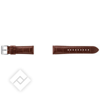 SAMSUNG GEAR S3 ALLIGATOR LEATHER BAND BROWN