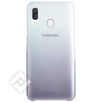 SAMSUNG Coque Samsung Galaxy A40 Rigide Design Dégradé Original Noir et Transparent