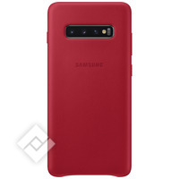 SAMSUNG LEATHER COVER RED GALAXY S10 PLUS