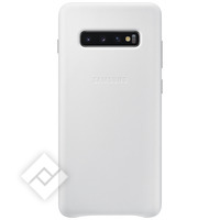 SAMSUNG LEATHER COVER WHITE GALAXY S10 PLUS