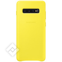 SAMSUNG LEATHER COVER YELLOW GALAXY S10 PLUS
