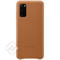 SAMSUNG Leather cover brown for Samsung Galaxy S20