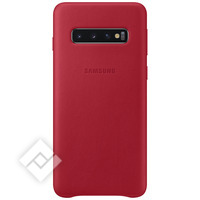 SAMSUNG LEATHER COVER RED GALAXY S10