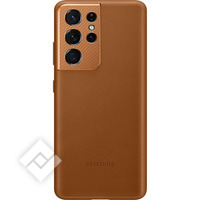 SAMSUNG LEATHER COVER S21U BROWN