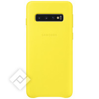 SAMSUNG LEATHER COVER YELLOW GALAXY S10