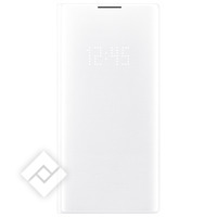 SAMSUNG Housse Galaxy Note 10 Plus Étui Porte-carte LED View Cover Original Blanc