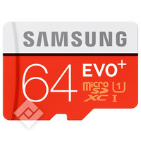 SAMSUNG MICROSDXC 64GB EVO+ ADAPTER