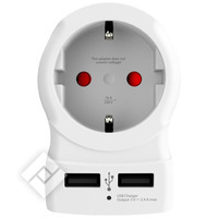 SKROSS EUROPE TO US TRAVEL ADAPTER AND USB CHARGER