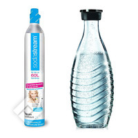 SODASTREAM RESERVEPACK CO2 + CARAFE (CRYSTAL / PINGUIN)