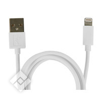 Câble USB pour smartphone ou tablette LIGHTNING CABLE 1M WHITE