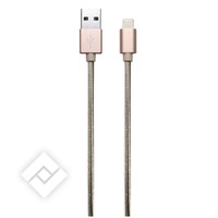 TEMIUM LIGHTNING CABLE NYLON GOLD, Chargeur portable / Powerbank