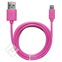 TEMIUM LIGHTNING CABLE TO USB PINK