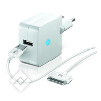 TEMIUM WALL CHARGER 1SLOT+30P WH