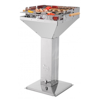 Tepro Vista barbecue en inox de type colonne, Barbecue