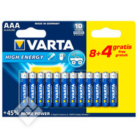 VARTA LONGLIFE POWER AAA 8+4