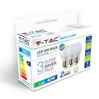 Vtac VT-2176 3-pack LED lampen kogel - E27