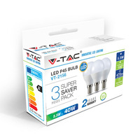 Vtac VT-2156 3-pack LED lampen kogel - E14