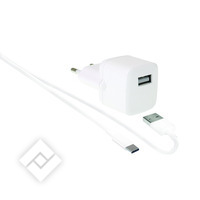 WEFIX LADER USB-A.4A WIT + USB-C KABEL