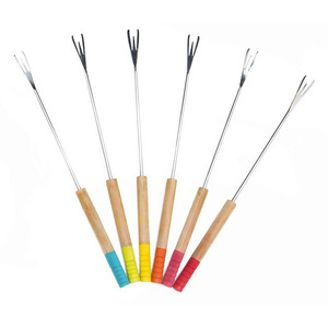 Pebbly FONDUE FORKS COLOR X6