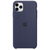 APPLE IPHONE 11 PRO MAX SILICONE CASE MIDNIGHT BLUE,