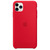 APPLE IPHONE 11 PRO MAX SILICONE CASE RED,