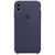 APPLE SILICONE CASE BLU XS MAX
