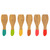 Spatel - lepel RACLETTE STICKS COLOR X6