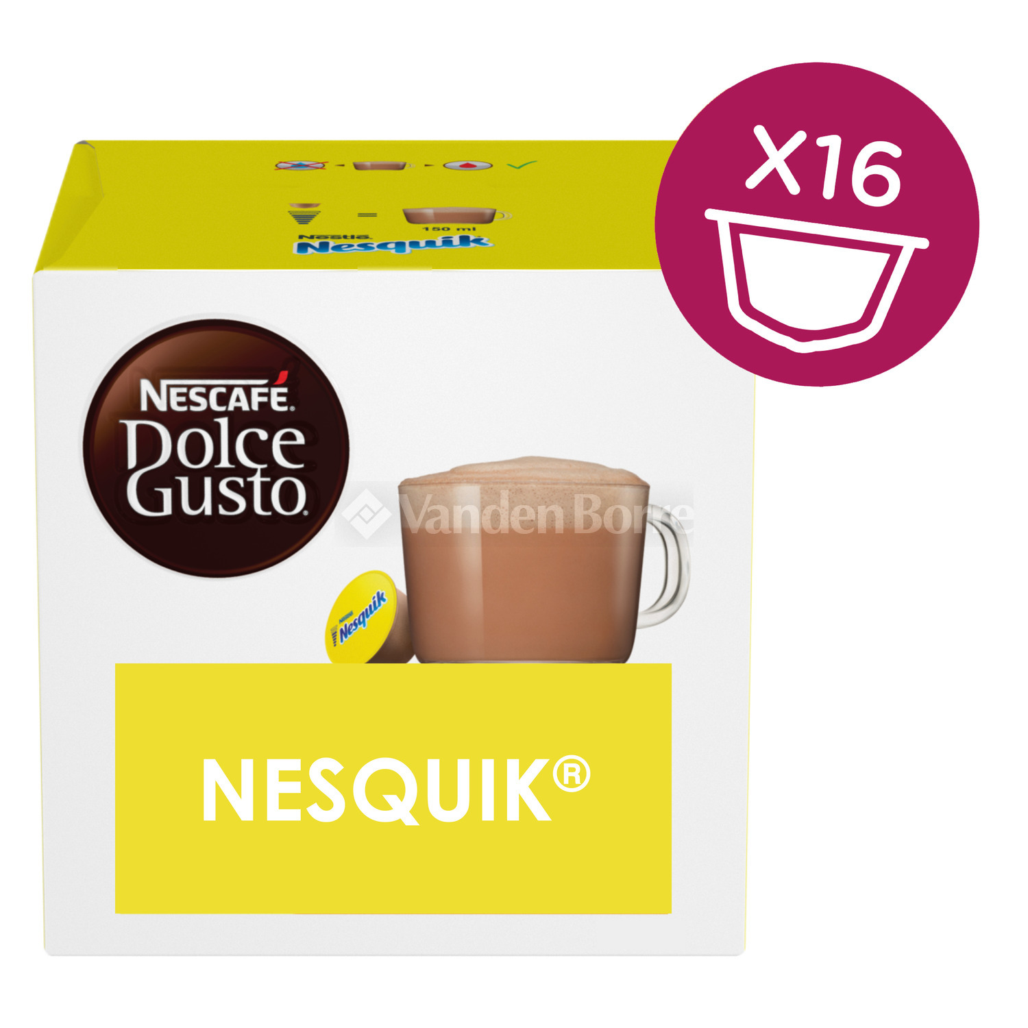 dolce gusto nesquik 16x chez vanden borre comparez et achetez facilement. Black Bedroom Furniture Sets. Home Design Ideas