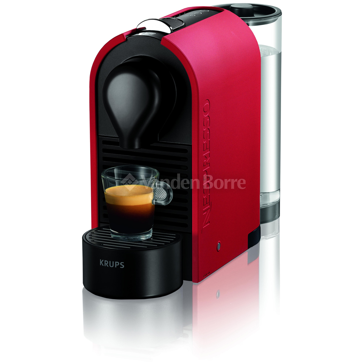 krups nespresso u xn2505 red chez vanden borre comparez et achetez facilement. Black Bedroom Furniture Sets. Home Design Ideas