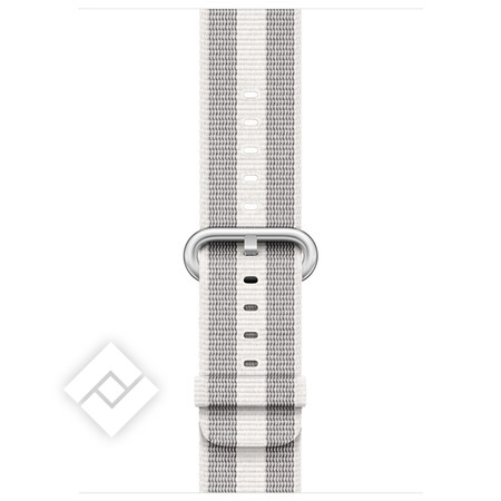 APPLE 42MM WHITE STRIPE WOVEN NYLON