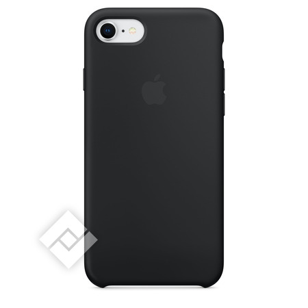 APPLE SILICONE COVER BLACK IPHONE 7,8