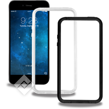 BLUEWAY 2 BUMPERS BLACK/TRANSPARANT IPHONE 6/6S