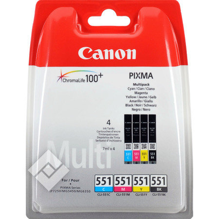 CANON CLI 551 BLACK + 3 COLORS PACK