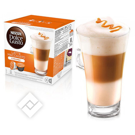 DOLCE GUSTO Capsules / pads LATTE CARAMEL 8x