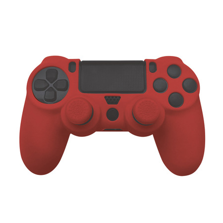 FR-TEC Silicone Skin + Grips (rood) voor PS4