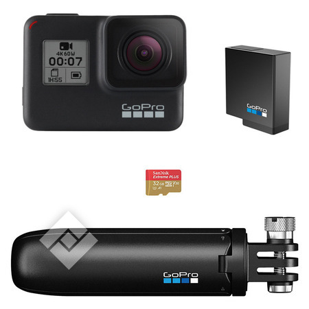 GOPRO Caméra sport ou 360° HERO 7 BLACK PACK SPECIAL