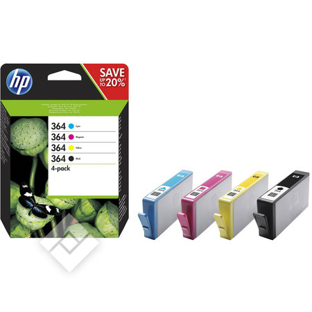 HP 364 PACK BLACK + 3 COLORS