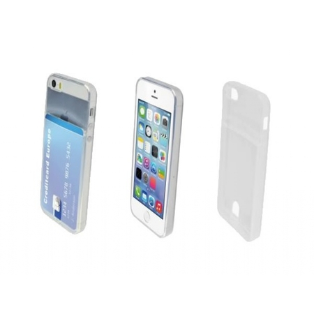 I12COVER Apple Iphone Se Smart TPU Case met opbergvakje voor pasje