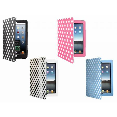 i12Cover Stand Case with polka dot prints for Ipad 4
