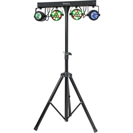 IBIZA SUPPORT DE LUMIERE AVEC 2 PROJECTEURS PAR RGBW + 2 MOON FLOWER A LED RGBWA (DJLIGHT60)
