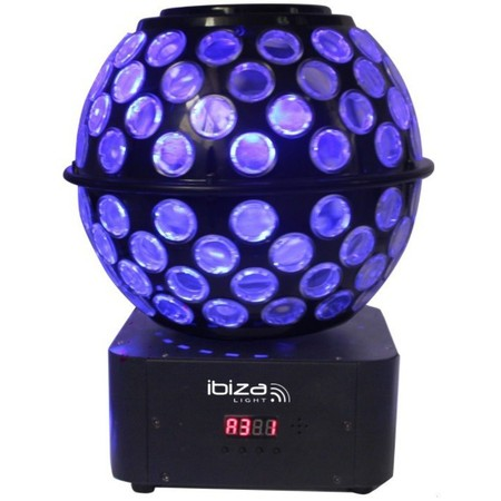 IBIZA DOUBLE EFFET DE LUMIERE GOBOS-FAISCEAUX RGBW (STARBALL-GB)