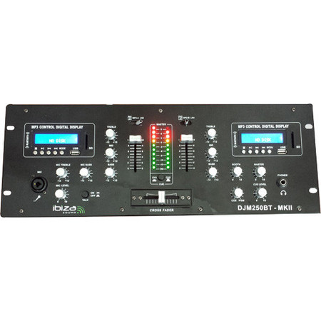 Ibiza TABLE DE MIXAGE DJ A 2 CANAUX USB, SD & BLUETOOTH  (DJM250BT-MKII)