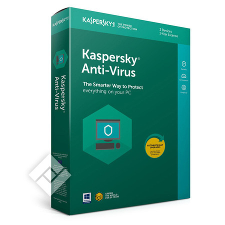 KASPERSKY ANTI-VIRUS 2019 BLX 3 USERS 1 YEAR