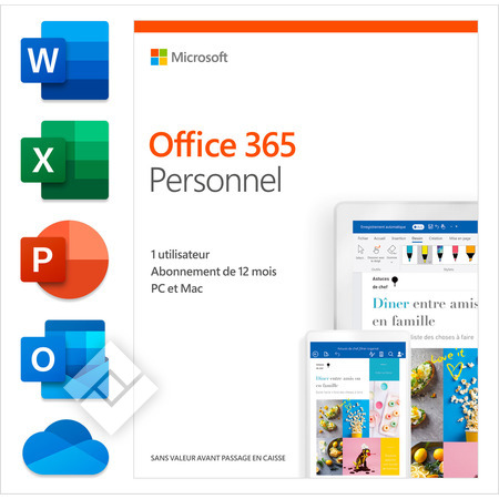 MICROSOFT OFFICE 365 PERSONAL 1 YEAR FR