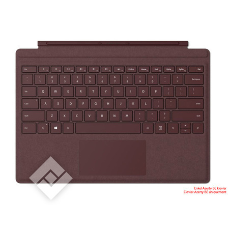 MICROSOFT SURFACE GO TYPE COVER AZERTY BE BURGUNDY